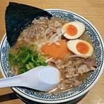 丸源ラーメン - 料理写真:【肉そば + 半熟煮玉子】¥650 + ¥100(税抜)