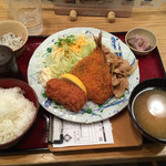 築地食堂 源ちゃん - 2016/02 日替わりA定食 980円