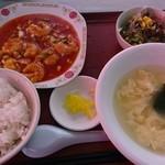 開華園 - 選べる定食【エビチリ】②♪ご飯は意外と多い♪