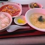 開華園 - 選べる定食【エビチリ】♪