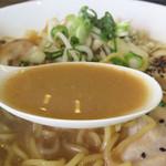 ヤマト - こってり系ではなく、九州人好みの優しくマイルドな味噌スープですよ。