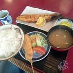 鳥はな - 「本日の焼き魚定食(さば)」 765円  ご飯大盛り +60円