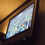愛花夢 - モニターでワールドカップを楽しみました