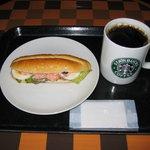スターバックス・コーヒー - 2010/8/11 エッグ&シュリンプサンド