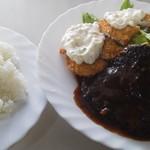シェフ - ハンバーグ&魚フライ定食(一部)♪