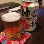うりずん - ドリンク写真:オリオンビールは缶