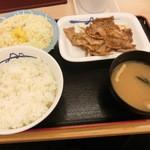 47630510 - スタミナ豚バラ生姜焼定食でございます