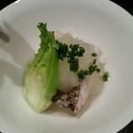 47630760 - 先付 太刀魚・旬野菜・すりおろし