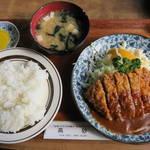 レストラン高砂 - メンチカツランチ590円