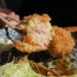 レストラン高砂 - カニクリームコロッケランチ590円