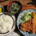レストラン高砂 - チキンカツランチ590円