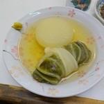 47634071 - おでん(大根、ロール白菜)
