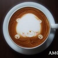 唐揚げ&ワッフル アモール - カフェラテ