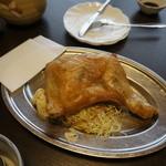 和風味処 鬼太郎 - 名物を追加注文。鶏のから揚げ