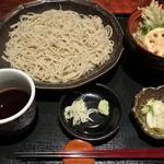 手打ちそば 創愿 - 天丼+二八蕎麦セット