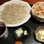 手打ちそば 創愿 - 桜海老丼+十割蕎麦セット
