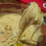 ステーキ&ハンバーグ ひげ - ラムバーグのチーズ煮込み200g1600円-シメのパスタ