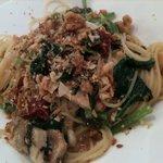 4764091 - イワシとドライトマト 小松菜のスパゲティ