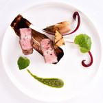 アルテリーベ - マンガリッツァ豚のロースト、葉山葵のピストゥと筍のグリルを添えて