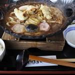 うどん食堂 つばめや - 牡蠣天鍋焼きうどんランチ@1,180