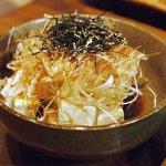 鳥まさ - 2010/08/12 クリームチーズの醤油仕立て(350円)