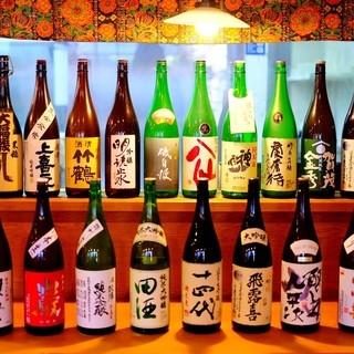 種類豊富なお酒!100種類程!