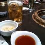 焼肉 昌久園 - 生ビールでスタート
