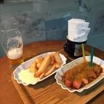 imbiss カリーブルスト - 外で食べるのもまたなかなか・・・