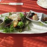 マーガレット - おさかなランチ(ヒラメのグリル)1000円