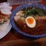 麺屋 風よおしえて - 鶏だし中華そば(醤油)&餃子