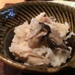 千翠 - 牡蛎ご飯