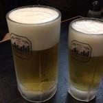 かんちゃん - 生ビール(大)、生ビール(中)