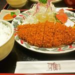 とんかつ雅 - 料理写真:上ロースとんかつ定食1620円 2016.2