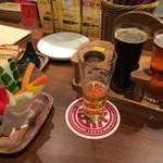 47660470 - ビール飲み比べセットに野菜スティック