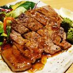 蓮こん - 豚肉のステーキです。 (^○^)