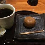白壁カフェ花ごよみ - ホットコーヒー(和菓子付き)