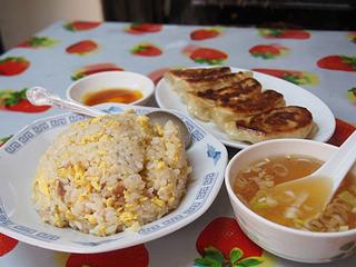 龍王 - 炒飯+焼き餃子=650円
