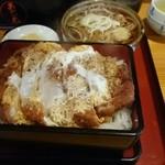 47667296 - カツ丼(上)蕎麦セットは950円