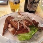 47671303 - 焼鶏(しょうけい)味が染み込んでいてお酒のアテにピッタリです