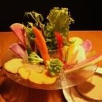 Wilco - 彩り野菜のバーニャカウダ。自家製アンチョビソースと共に