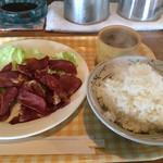 すてーしょん - サロベツファームの牛タン定食