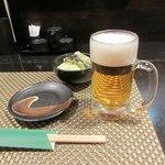 炭火焼鳥あずま - 生ビール2016.02.16