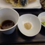 soba みのり - 辛汁と塩、薬味