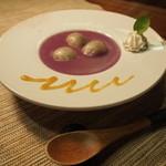わへいそば - 紫芋のおしるこ
