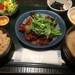 47693679 - 豚と野菜の辛みそ炒め(日替わり)