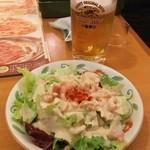 サイゼリヤ - 生ビール 399円+小エビのサラダ 299円♪