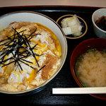 定食 稲 - おふくろの味 稲 カツ丼 850円