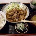 定食 稲 - おふくろの味 稲 豚しょうが焼定食 730円