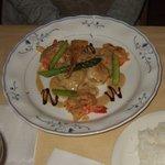 ルッコラ - お魚コースのメインの、鯛のグリルです。