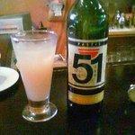 BAR 51 - ドリンク写真:パティス51(サンカンティアン)。店名の元になったお酒。かなり癖あります。